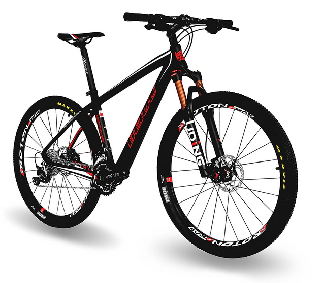 BEIOU® Carbon Fiber 650B Mountain Bike 27.5-Inch 10.7kg T800 Ultralight Frame 30 Speed SHIMANO M610 DEORE MTB Matte 3K CB20