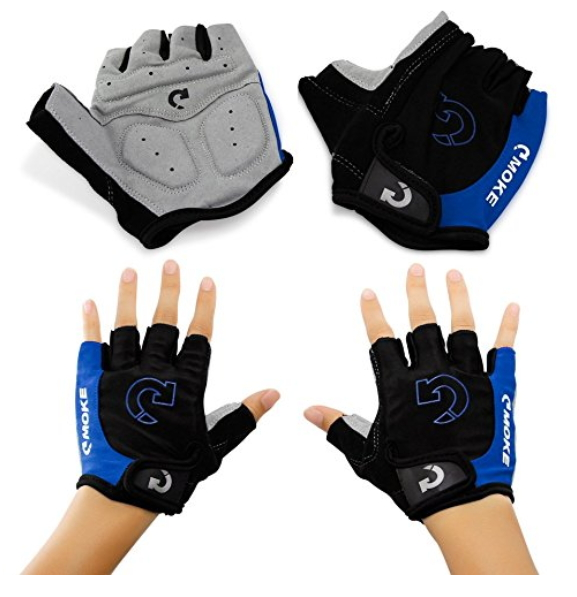 GEARONIC TM New Fashion Cycling Bike Bicycle Motorcycle Shockproof Outdoor Sports Half Finger Short Gloves