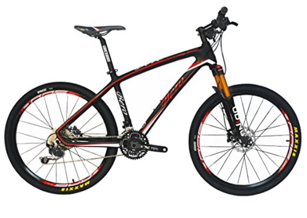 BEIOU Carbon Fiber Mountain Bike Hardtail MTB 10.65 kg SHIMANO M610 DEORE 30 Speed Ultralight Frame RT 26-Inch Professional Internal Cable Routing Toray T800 Carbon Hubs Matte CB025A