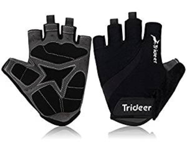 Cycling Gloves (Half Finger&Full Finger) – TRIDEER Ultra Light Breathable Lycra & Anti-Slip Shock - Absorbing Silica Gel Grip, Mountain Road Gloves Biking Gloves Men/Women