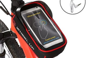 """Ejoyous Bike Bag, 6.0"""" Touch Screen Portable Road Mountain Bicycle Panniers Bike Cell Phone Holder For Outdoor Cycling"""