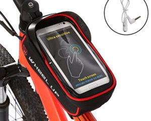 "Ejoyous Bike Bag, 6.0"" Touch Screen Portable Road Mountain Bicycle Panniers Bike Cell Phone Holder For Outdoor Cycling"